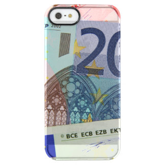 Euro Bills Background Clear iPhone SE/5/5s Case
