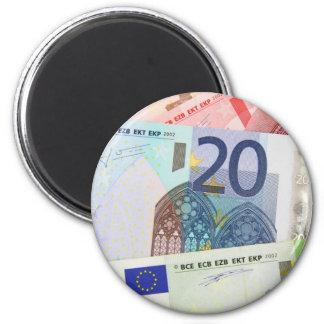 Euro Bills Background Magnet