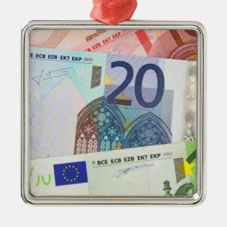 Euro Bills Background Ornaments
