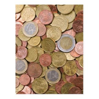 Euro Cents Postcard