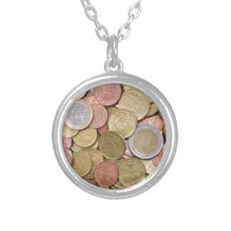 Euro Cents Silver Plated Necklace