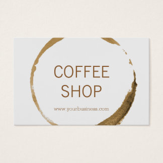 Euro Coffee Shop - coffee stain Business Card