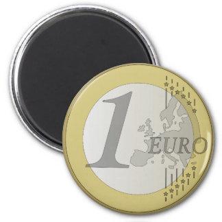 Euro coin magnet