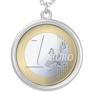 euro coin necklace