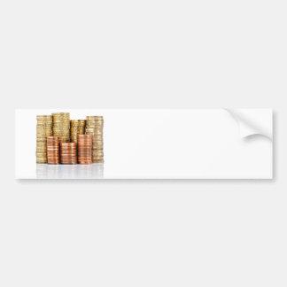 euro coins bumper sticker