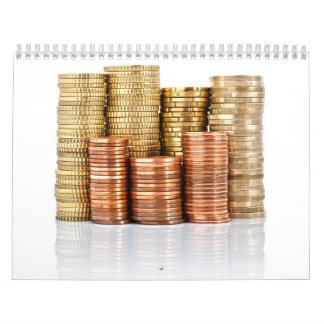 euro coins wall calendars