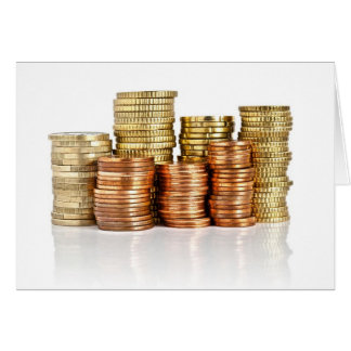 euro coins card