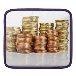 euro coins iPad sleeve