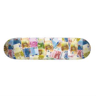 Euro Currency Image Skateboard Deck