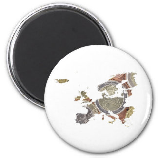 Euro Currency Map Magnet