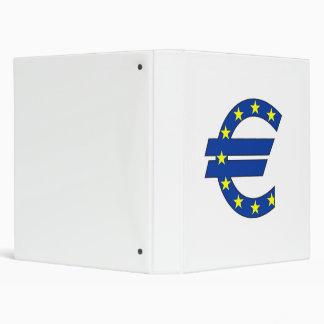 euro currency symbol money sign 3 ring binder
