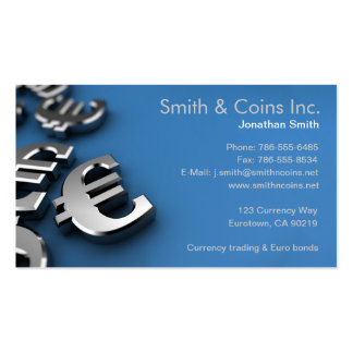 Euro Currency Symbols Business Card