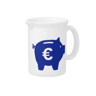 Euro de la hucha jarra de beber