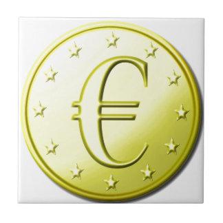 Euro del oro azulejo cuadrado pequeño