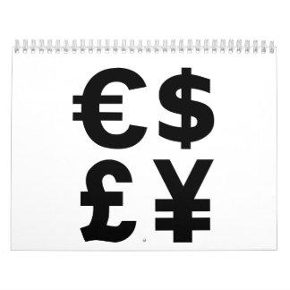 Euro Dollar Pound Yen Calendar
