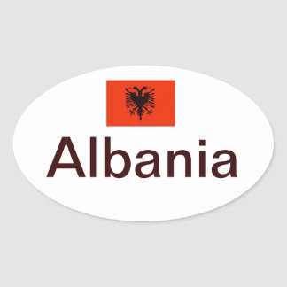 Euro-estilo, pegatina del óvalo de Albania*