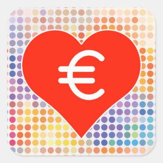 Euro Fan Square Sticker
