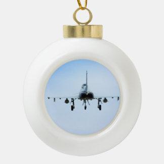 Euro Fighter heat Ceramic Ball Christmas Ornament