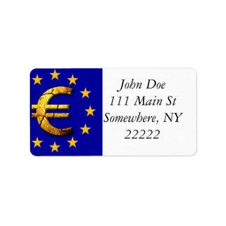 Euro Flag Label