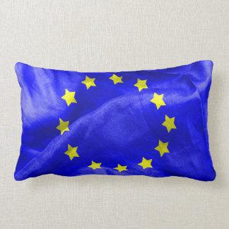 Euro Flag Texture Lumbar Pillow