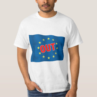 Euro Flag with text OUT T-shirt