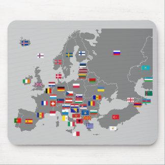 euro flags mousepad