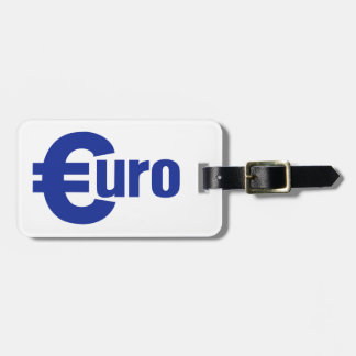 Euro money tag for luggage
