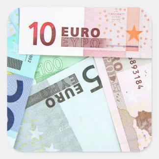 Euro Money Square Sticker