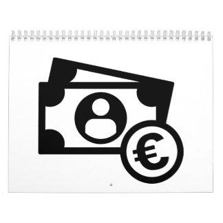 Euro notes coins calendar