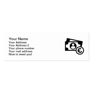 Euro notes coins Double-Sided mini business cards (Pack of 20)
