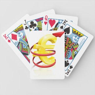 Euro o beneficios de levantamiento barajas de cartas