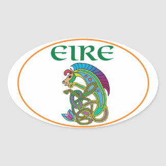 Euro Oval Ireland Car Sticker