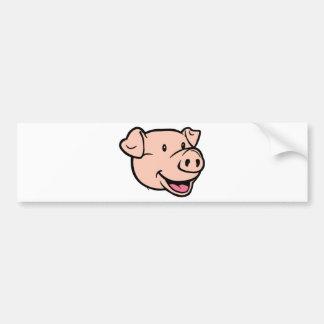 Euro psíquico 2012 del cerdo pegatina de parachoque
