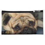 Euro Pug Face Cosmetic Bag
