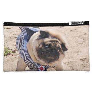 Euro Pug Funny Sailor Medium Cosmetic Bag