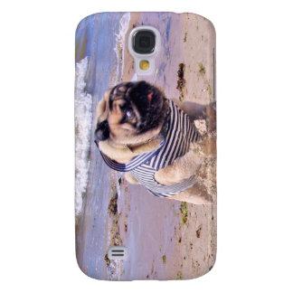 Euro Pug Running Sailor Samsung Galaxy S4 case