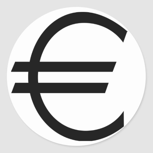 Euro Sign zazzle_sticker