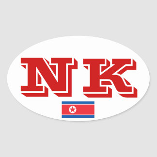 Euro-style, North Korea* Oval Sticker