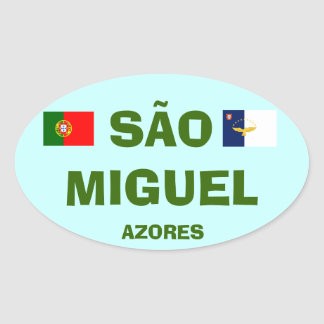 Euro-Style Sao Miguel* Azores Oval Oval Stickers