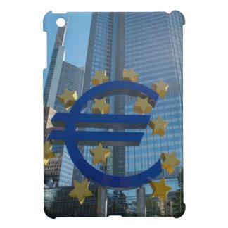 Euro symbol at European Central Bank in Frankfurt iPad Mini Cover