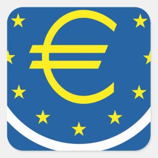 Euro symbolism - European Legacy Square Sticker