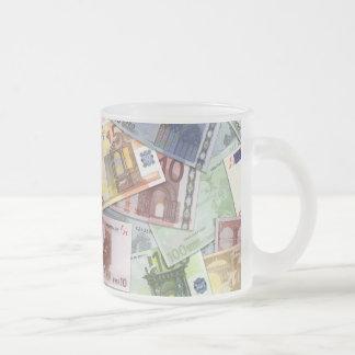 Euro Trip Frosted Glass Coffee Mug