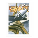 Euroair Francia Tarjetas Postales