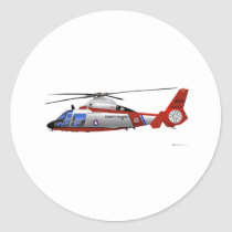 Eurocopter HH-65C Dolphin Classic Round Sticker