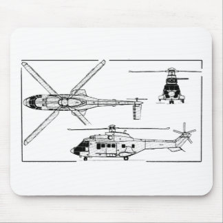 Eurocopter-Super-Puma-SA-33 Mouse Pad
