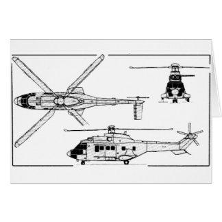 Eurocopter-Super-Puma-SA-33 Tarjeta De Felicitación