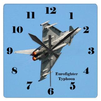 Eurofighter Typhoon blue sky all numbers Square Wallclocks