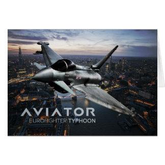 Eurofighter Typhoon Fighter Jet Card