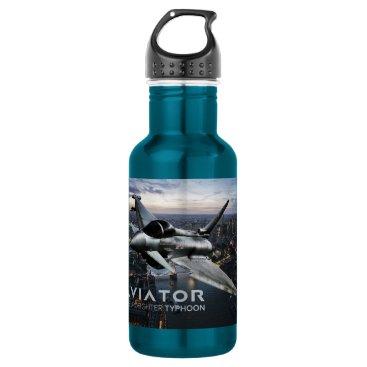 customvendetta Eurofighter Typhoon Fighter Jet Stainless Steel Water Bottle