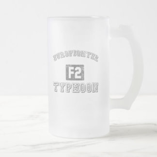 Eurofighter Typhoon Frosted Glass Beer Mug